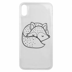 Чохол для iPhone Xs Max Sleeping fox