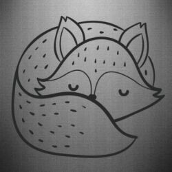 Наклейка Sleeping fox