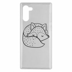 Чохол для Samsung Note 10 Sleeping fox