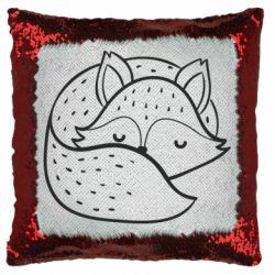 Подушка-хамелеон Sleeping fox