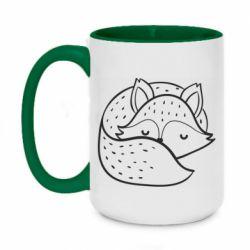 Кружка двоколірна 420ml Sleeping fox