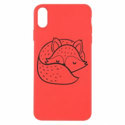 Чохол для iPhone X/Xs Sleeping fox