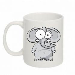 Кружка 320ml Слон глазастый