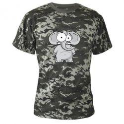 Камуфляжна футболка Слон окатий