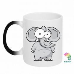 Кружка-хамелеон Слон глазастый