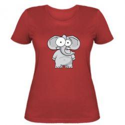 Женская футболка Слон глазастый