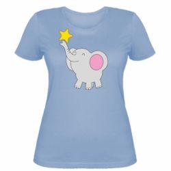 Жіноча футболка Слон із зірочкою