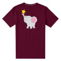 Чоловіча стрейчева футболка Слон із зірочкою
