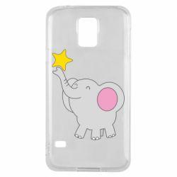 Чохол для Samsung S5 Слон із зірочкою