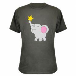 Камуфляжна футболка Слон із зірочкою