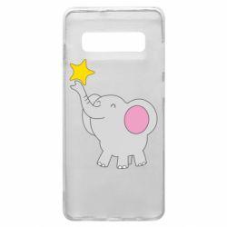 Чохол для Samsung S10+ Слон із зірочкою