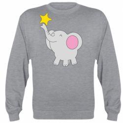 Реглан (світшот) Слон із зірочкою