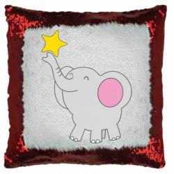 Подушка-хамелеон Слон із зірочкою