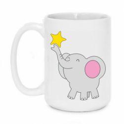 Кружка 420ml Слон із зірочкою