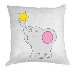 Подушка Слон із зірочкою