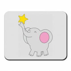 Килимок для миші Слон із зірочкою