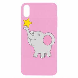 Чохол для iPhone X/Xs Слон із зірочкою