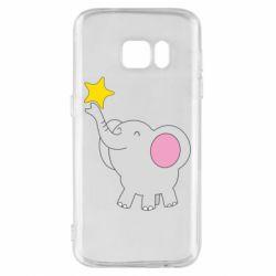Чохол для Samsung S7 Слон із зірочкою