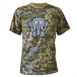 Камуфляжная футболка Слоник - FatLine