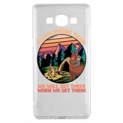 Чехол для Samsung A5 2015 Sloth Hiking Team We Will Get There When We Get There