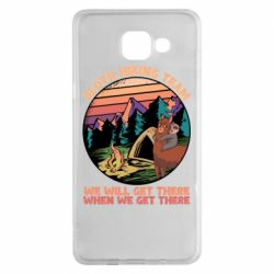 Чехол для Samsung A5 2016 Sloth Hiking Team We Will Get There When We Get There