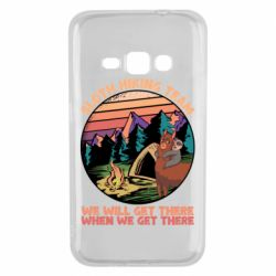 Чехол для Samsung J1 2016 Sloth Hiking Team We Will Get There When We Get There