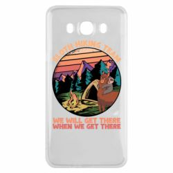 Чехол для Samsung J7 2016 Sloth Hiking Team We Will Get There When We Get There