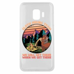 Чехол для Samsung J2 Core Sloth Hiking Team We Will Get There When We Get There