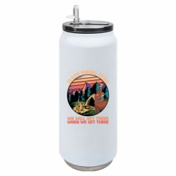 Термобанка 500ml Sloth Hiking Team We Will Get There When We Get There