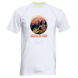 Мужская спортивная футболка Sloth Hiking Team We Will Get There When We Get There