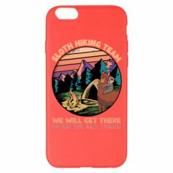 Чехол для iPhone 6 Plus/6S Plus Sloth Hiking Team We Will Get There When We Get There