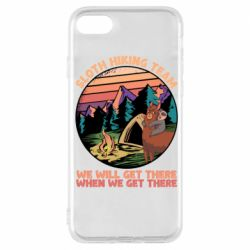 Чехол для iPhone 7 Sloth Hiking Team We Will Get There When We Get There