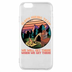 Чехол для iPhone 6/6S Sloth Hiking Team We Will Get There When We Get There