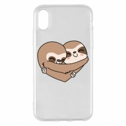 Чохол для iPhone X/Xs Sloth lovers