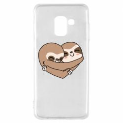 Чохол для Samsung A8 2018 Sloth lovers