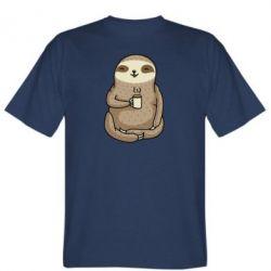Чоловіча футболка Sloth loves coffee