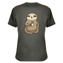 Камуфляжна футболка Sloth loves coffee