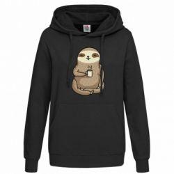 Толстовка жіноча Sloth loves coffee