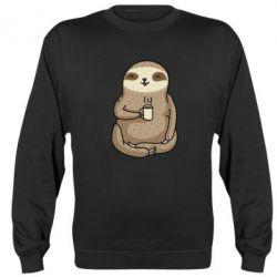 Реглан (світшот) Sloth loves coffee