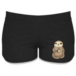 Жіночі шорти Sloth loves coffee