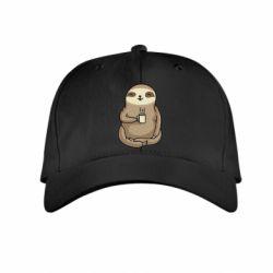 Дитяча кепка Sloth loves coffee