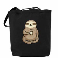 Сумка Sloth loves coffee
