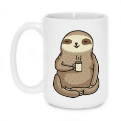 Кружка 420ml Sloth loves coffee