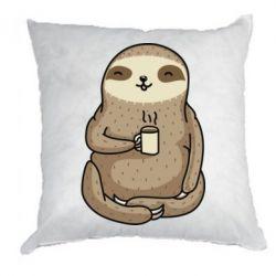 Подушка Sloth loves coffee