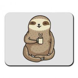 Килимок для миші Sloth loves coffee