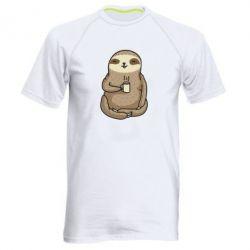 Чоловіча спортивна футболка Sloth loves coffee