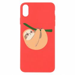 Чехол для iPhone Xs Max Sloth on a branch