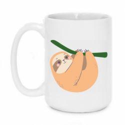 Кружка 420ml Sloth on a branch
