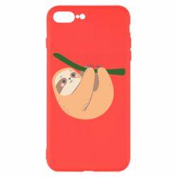 Чехол для iPhone 7 Plus Sloth on a branch