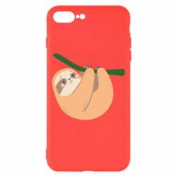 Чехол для iPhone 8 Plus Sloth on a branch